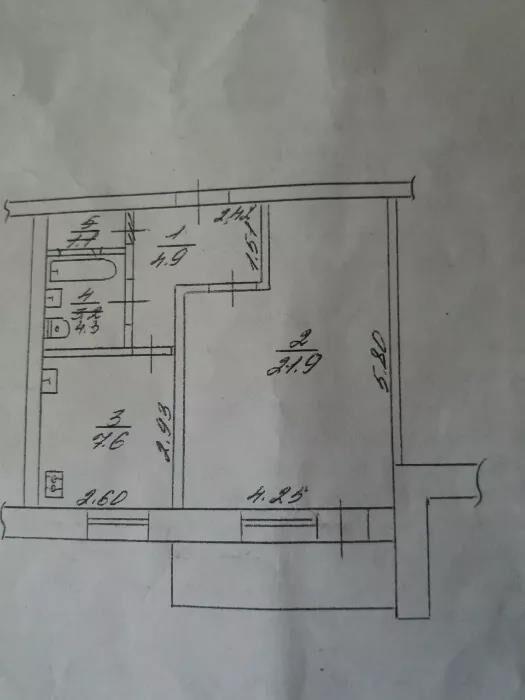 Продается 1к квартира в центре города.