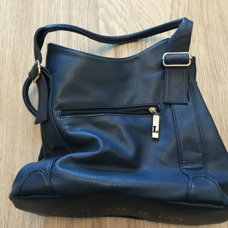 Стильная синяя женская сумка из экокожи