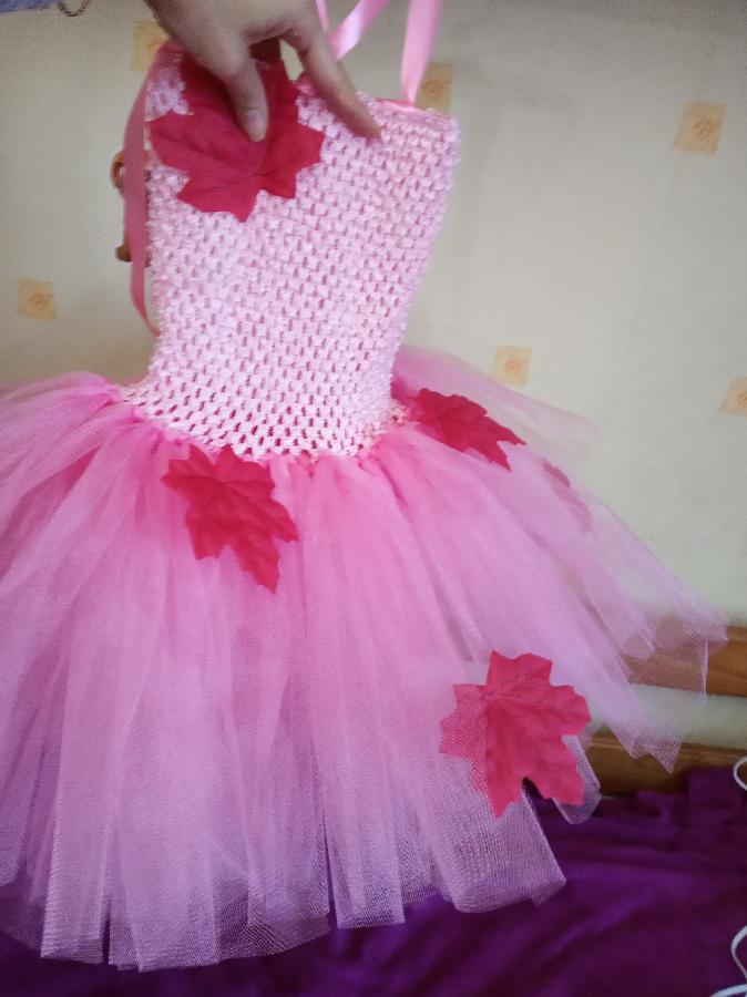 осенний листочек платье наряд