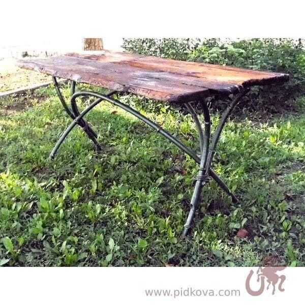 Кованый стол Бамбук со скидкой.