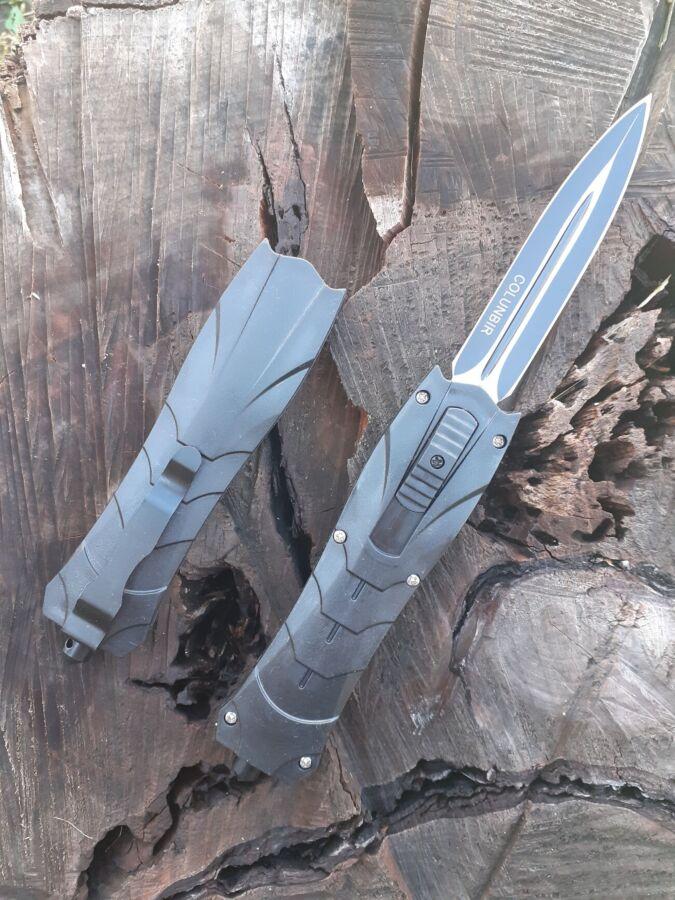 Нож фронтальный складной автоматический выкидной