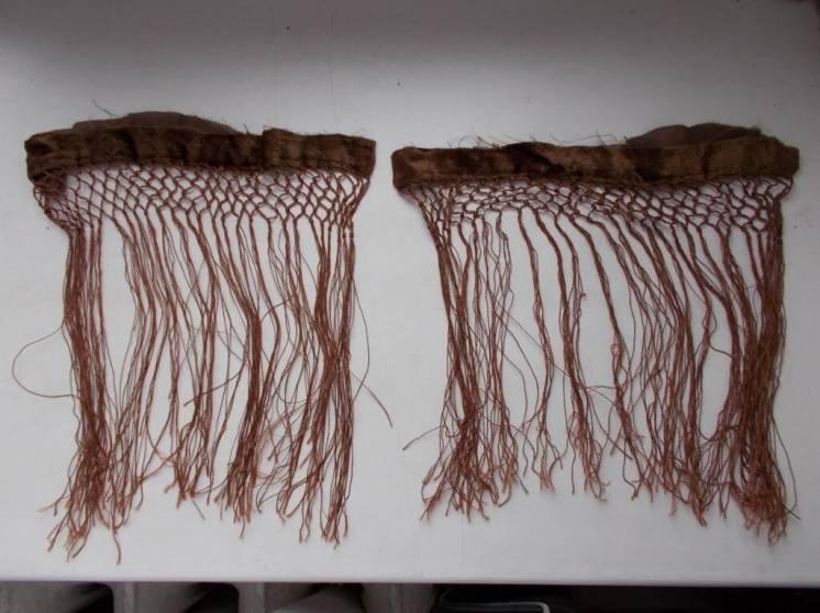 Бахрома декоративная шелковая коричневая, 2 куска. Рукоделие, поделки