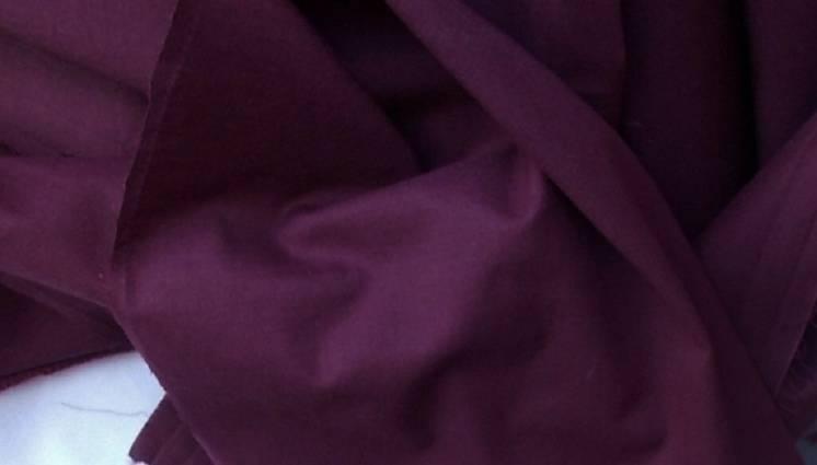 Ткань натуральный хлопок батист цвет бордо