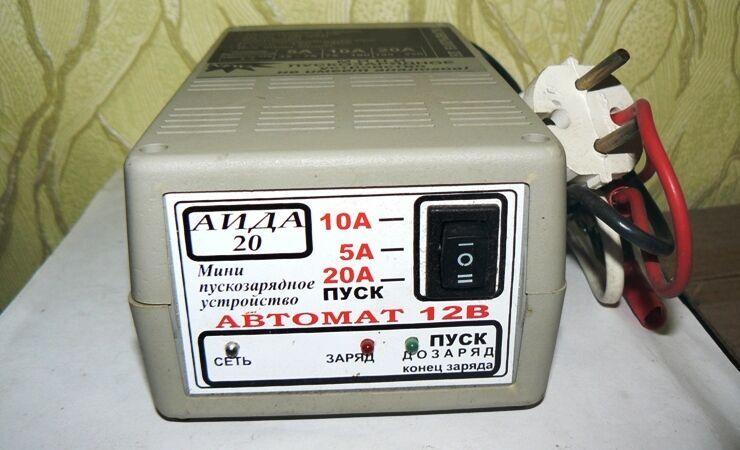 Автоматическое пуско-зарядное устройство АИДА-20 для аккумуляторов