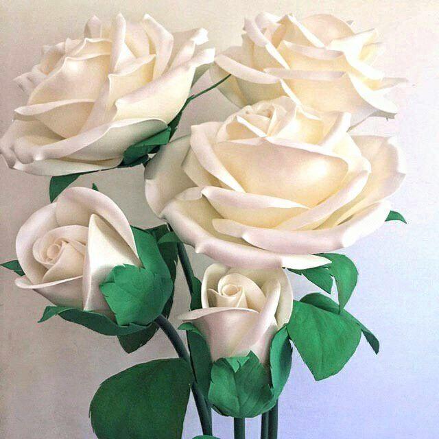 Нежные розы ручной работы, гигантские цветы