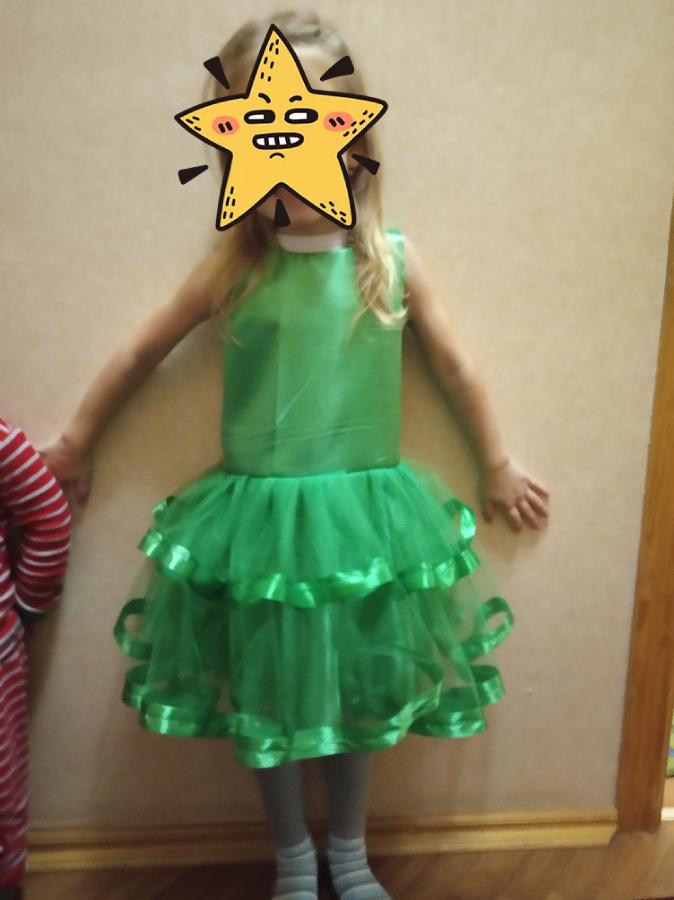 жабка лягушка ёлочка платье обруч костюм