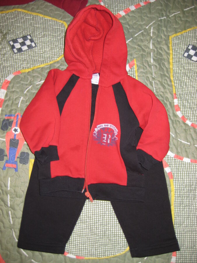 Детский спортивный костюм на флисе 80 - 86 см