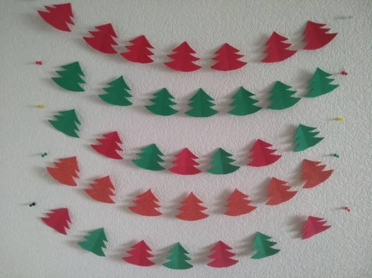 Гирлянда Handmade Ёлочка Новый год Рождество праздник подарок украшени