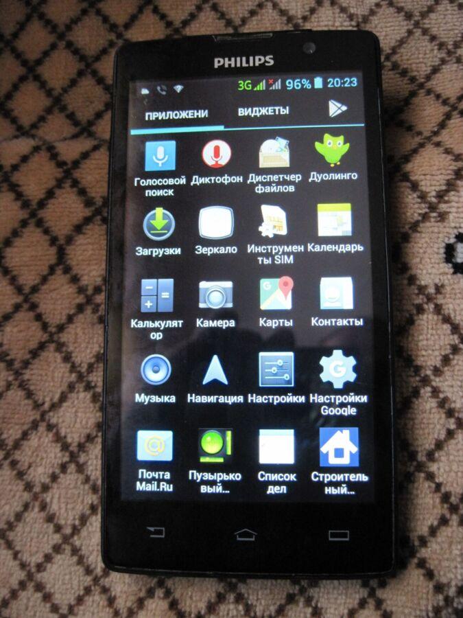 Продам смартфон Philips W3500