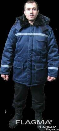 Куртка утепленная рабочая спецодежда светоотражающие полосы