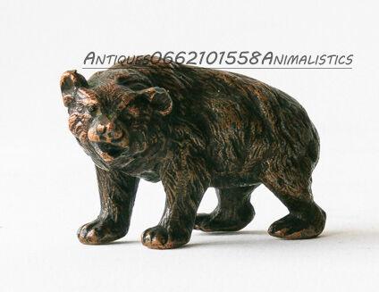 Бронза статуэтка Медведь Европа 1950-1960