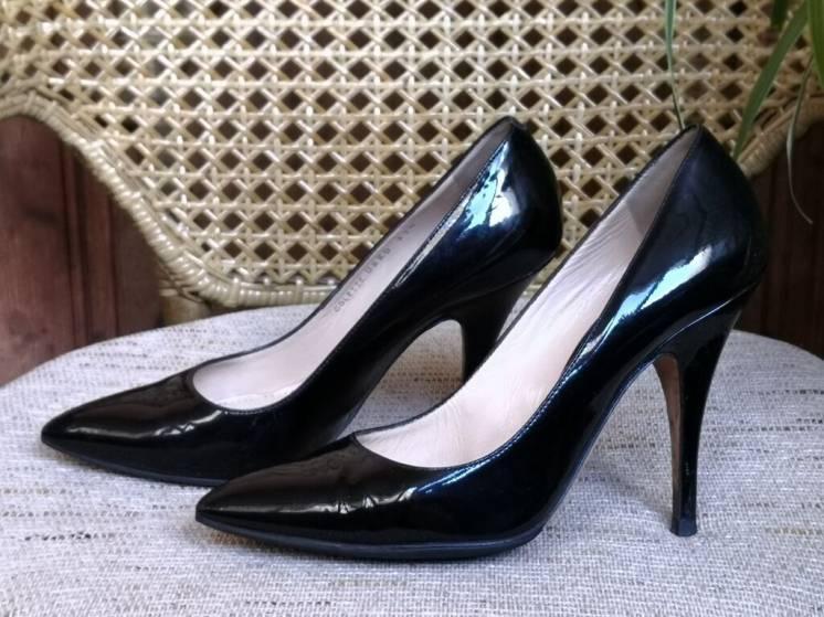 Женские туфли Bally ( Балли ), оригинал, кожаные, лакированные, черные