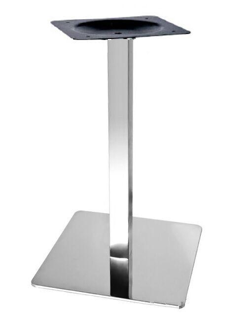 Опора  Кама, металл, нержавейка inox, высота 72 см, блин 40*40 см