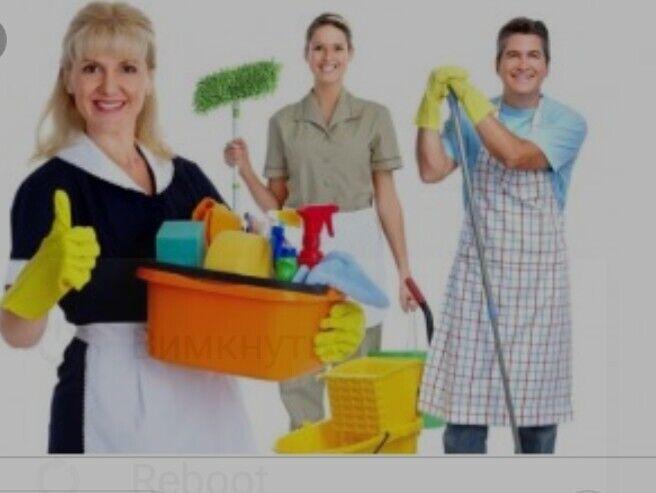 Уборка комнат,квартир,домов,офісов,любых теретортй