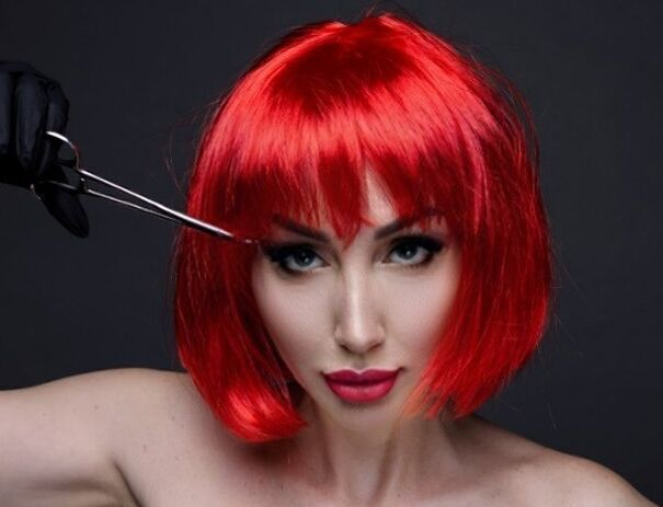 Прокат цветных париков каре