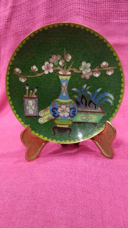 тарелка коллекционая клуазоне