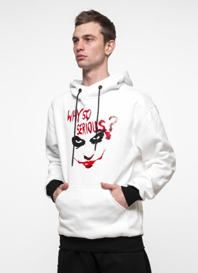 Худи утепленный 7Sins - Joker, White