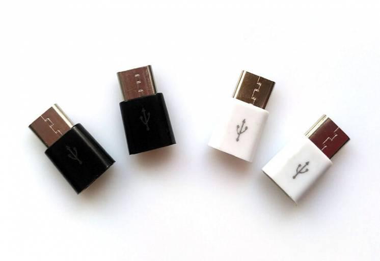 Переходник с Miсro-USB на Type-C новый Микро-ЮСБ Адаптер usb type C ти