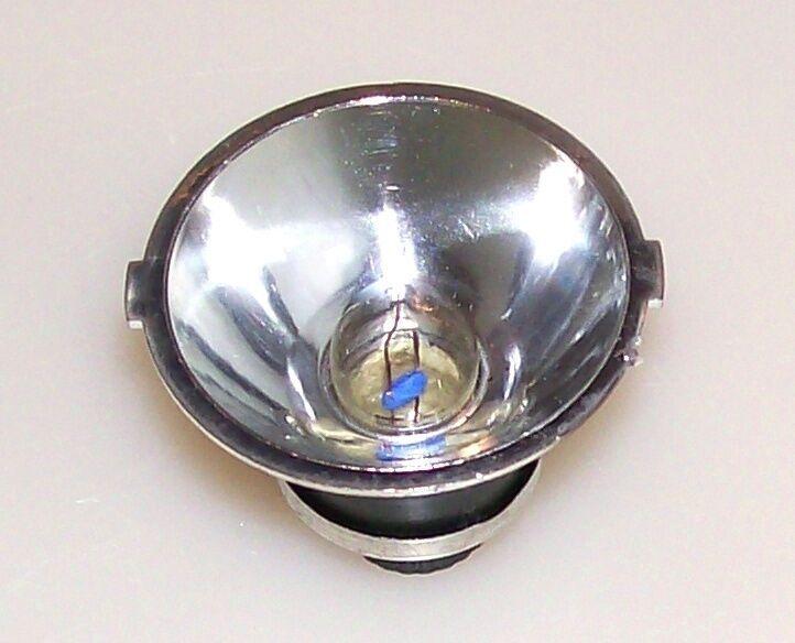 Лампа накаливания миниатюрная, криптоновая, с отражателем.