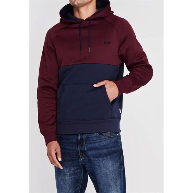 Lee Cooper худи мужская толстовка с капюшоном сине-бордовая.  Англия.