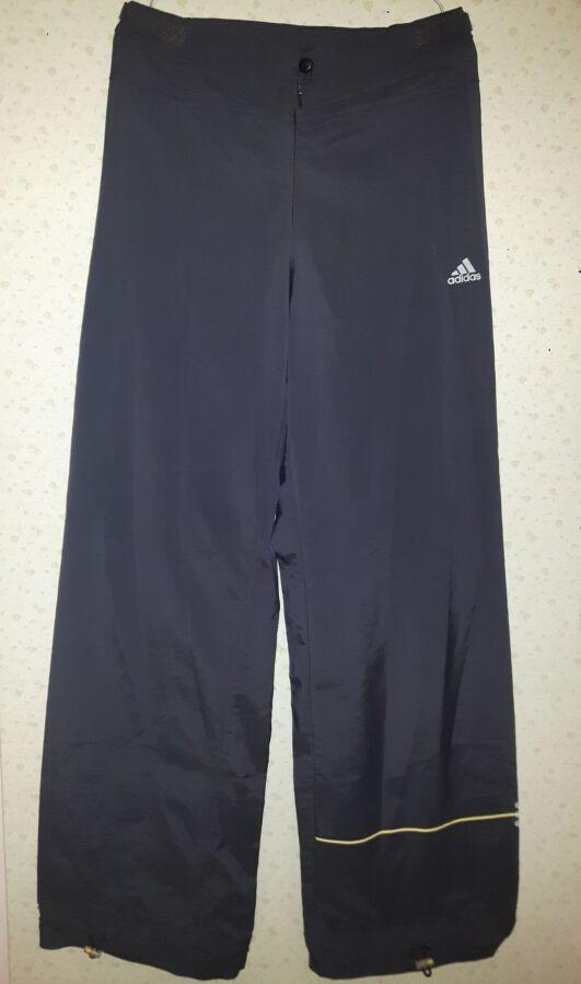 Брюки (штаны) спортивные Adidas женские размер Xs-s темно-синие болоне