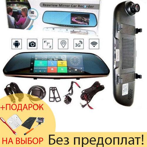 D35 / K35 Зеркало заднего вида регистратор, 7″ сенсор 2 камеры