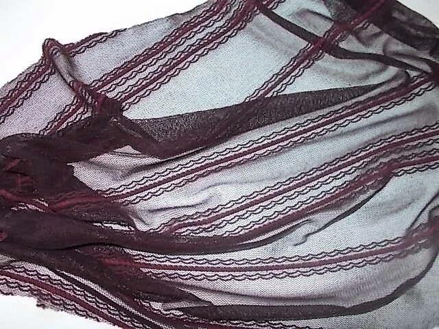 Ткань тюль сетка кружевная с рисунком полоски, Для  рукоделия