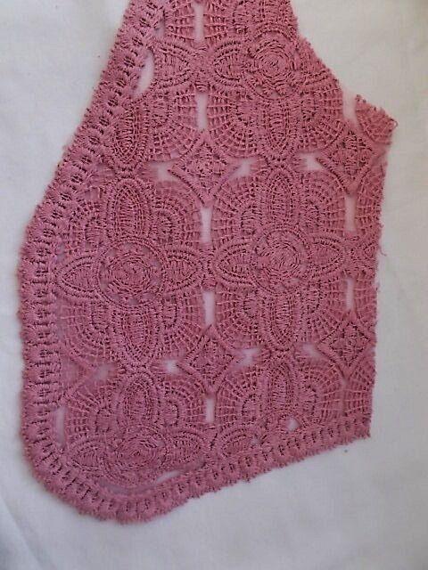 Ткань гипюр кружевной нежно-сиреневого цвета For Hand Made, рукоделия