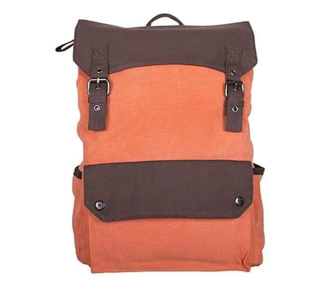 Рюкзак брезент 6075 оранжевый