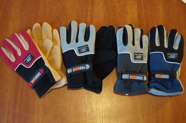 Зимние перчатки/велоперчатки на флисе