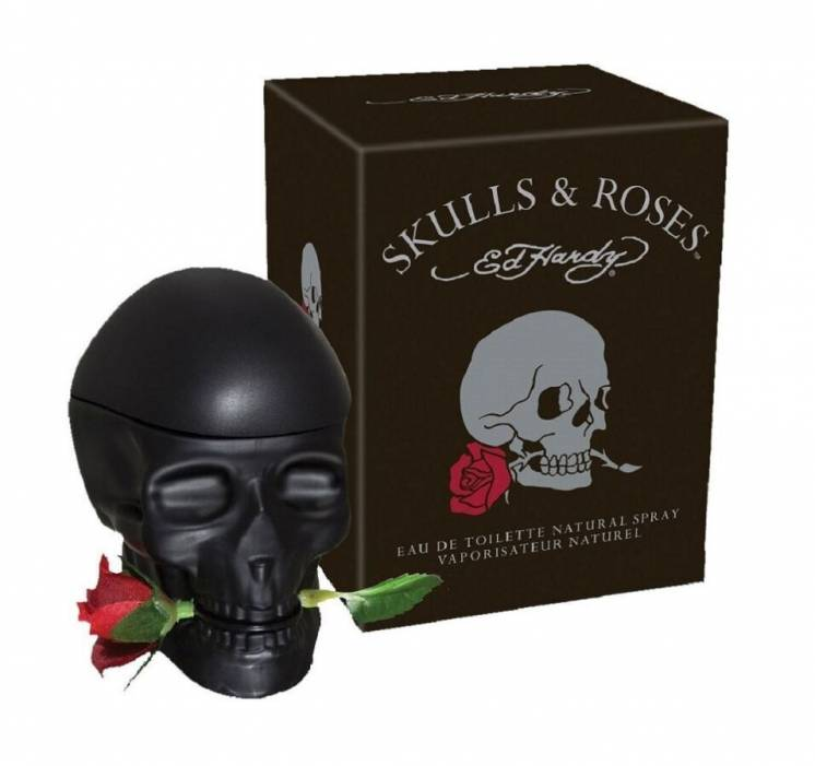 Ed Hardy Skulls & Roses for Him Christian Audigier туалетная вода.