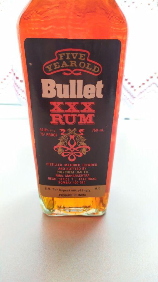 Винтажная бутылка. Bullet Xxx Rum. 1992 год. Раритет. Новая.