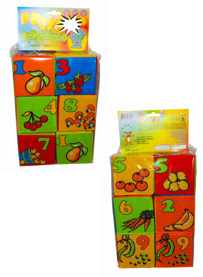 Детский набор мягких кубиков. Математика Тм Розумна іграшка