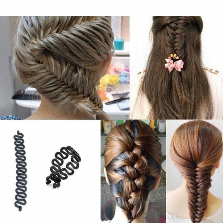 Эластичная шпилька-заколка для плетения и укладки волос