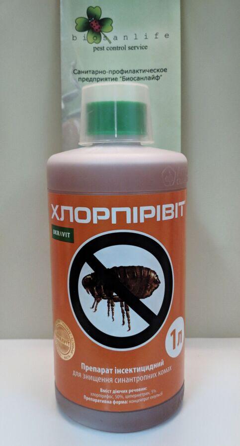 Хлорпірівіт, Засіб від комах, тарганів, кліщів,мурашок