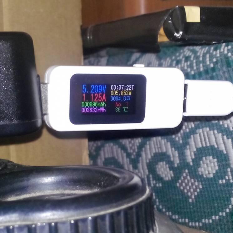 USB тестер оригинальный с цветным дисплеем, новый в упаковке