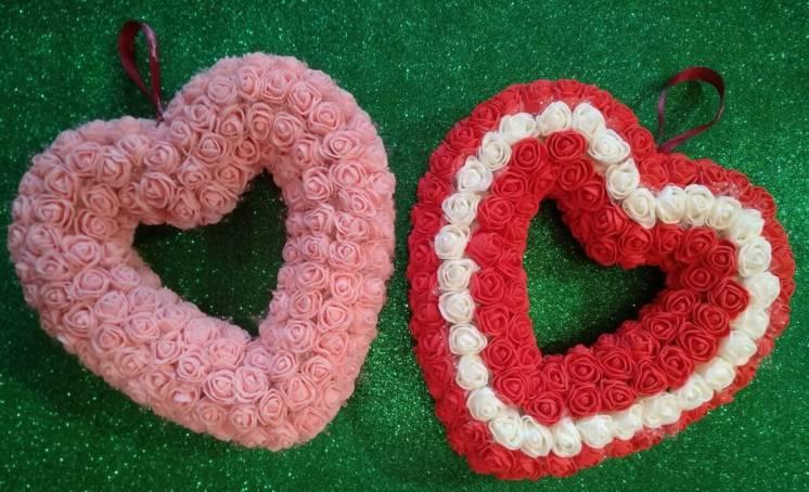 Сердце из роз. Мишка из роз. День Святого Валентина