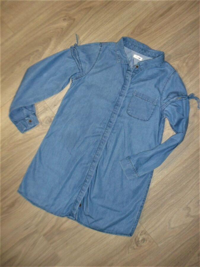Стильное джинсовое платье - рубашка от Некст на 9лет