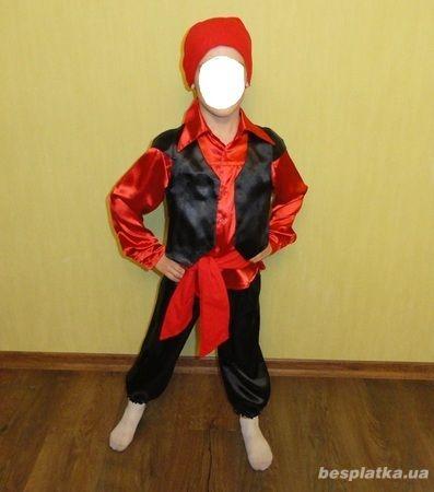 Карнавальный костюм цыгана, пирата, снегиря на 4-7 лет.