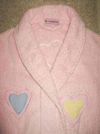 Детский махровый халат с сердечками