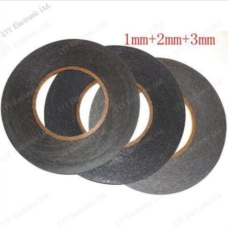 Двухсторонний скотч 1,2,3,5 мм 1метр (сенсор, экран) черный
