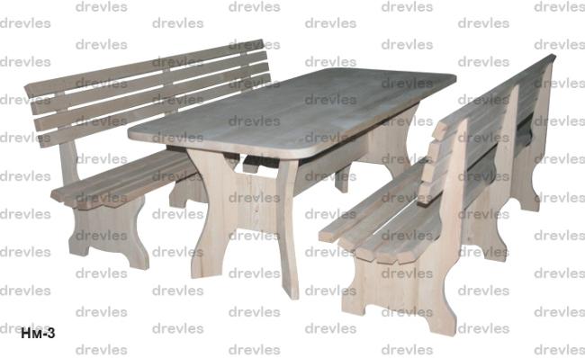 Набор мебели садовый №3 / Нм-3