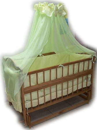 Акция! Новые! Кроватка маятник + матрас кокос + набор постельного