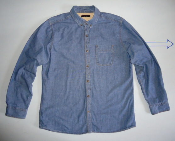 Рубашка GEORGE джинсовая (L)