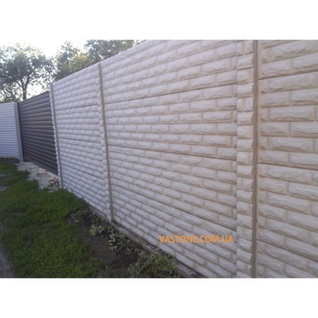 Еврозабор (Евро забор), секционный бетонный забор (+ двухсторонний)