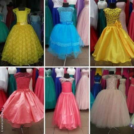 нарядное бальное платье на выпускной для девочки