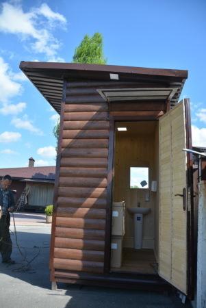 """Летний туалет для дачи. """"Броневик"""" Днепропетровск."""