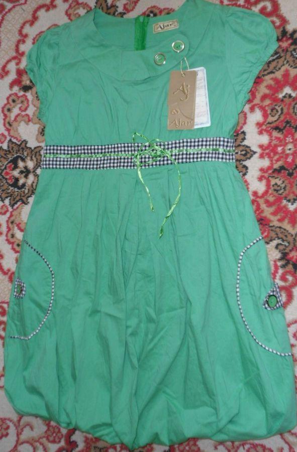 Зелёное платье, размер 42, новое