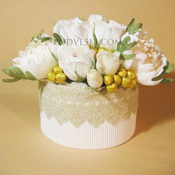 Букет цветов с конфетками Вдохновение