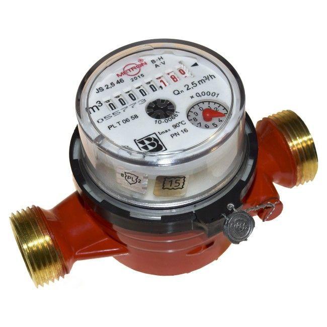 Счетчики воды PoWoGaz JS-2,5, Metron.